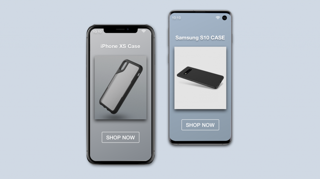 Device discovering and page personalisation for iPhone and Samsung.