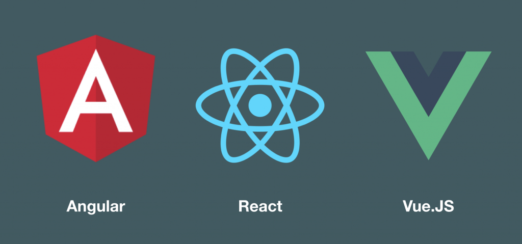 javascript frameworks: Angular, react and vue.js