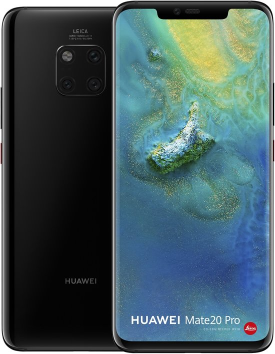 Huawei Mate 20 Pro. front and back